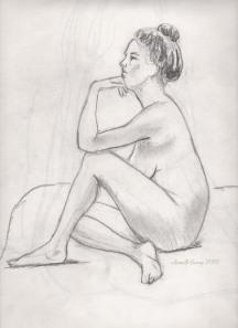 Tina, Pencil on paper